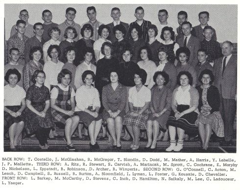 High School of Commerce 1963 Ottawa, Canada My Class Photo